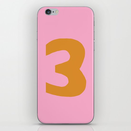 Number 3 iPhone & iPod Skin