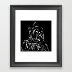 The Hunter B&W(flip) Framed Art Print