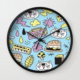 Cat Jams Wall Clock