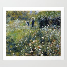 Renoir - Woman with a Parasol in a Garden Art Print