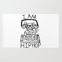 hiphop Area & Throw Rugs featuring I AM HIPHOP  by Geryes