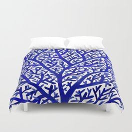 Fan Coral – Navy Duvet Cover