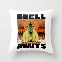 Hell Awaits Throw Pillow