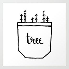 Pocket of Trees Art Print