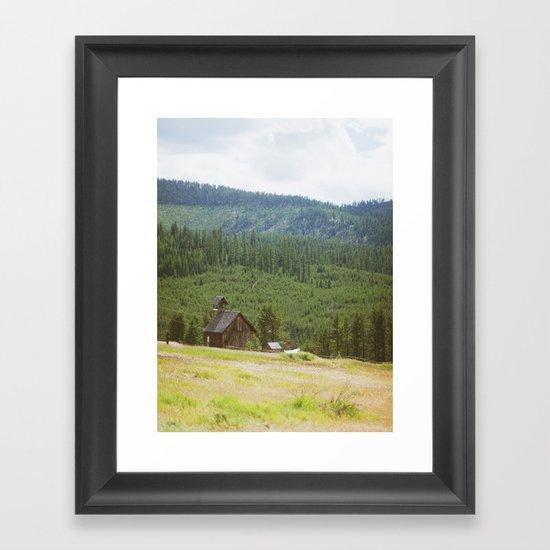 Forest Mountain Church Framed Art Print