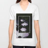 daisy V-neck T-shirts featuring DAISY by Rebeca Zum