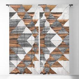 Urban Tribal Pattern No.12 - Aztec - Wood Blackout Curtain
