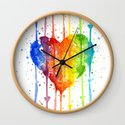 Heart Rainbow Watercolor Colorful Heart Painting by olechka