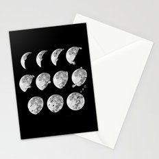 lunar phases of sleep Stationery Cards