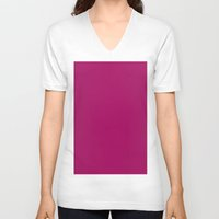 jazzberry blue V-neck T-shirts featuring Jazzberry jam by List of colors