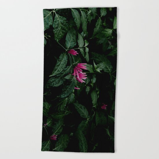 Tropical Flowers Beach Towel