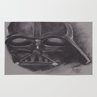 sith Area & Throw Rugs featuring Darth Vader Sith Lord by Matthew Sutton Art