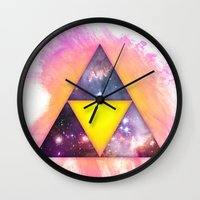 triforce Wall Clocks featuring Cosmic Triforce by Spooky Dooky