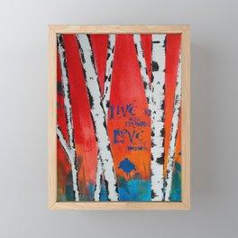 Live and Love Birch Framed Mini Art Print
