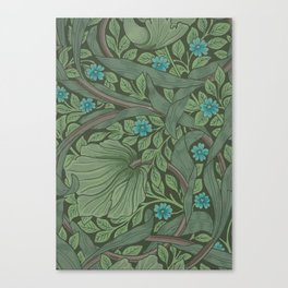 William Morris Art Nouveau Forget Me Not Floral Canvas Print