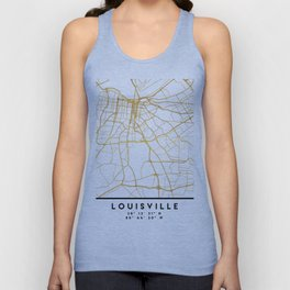 LOUISVILLE KENTUCKY CITY STREET MAP ART Unisex Tank Top