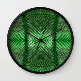 Green Glass 849 Wall Clock