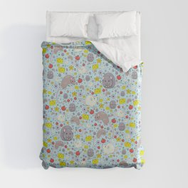 Pretty Rat and Mouse Pattern Duvet Cover