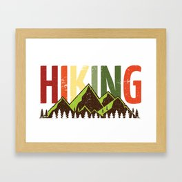 Hiking Nature Mountains Forest Framed Art Print