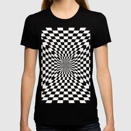 Checkered Optical Illusion T-shirt