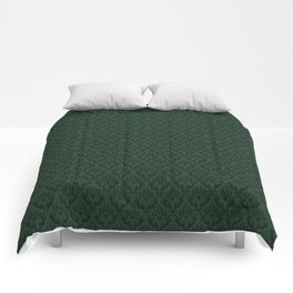 Green Victorian Era Damask Comforters