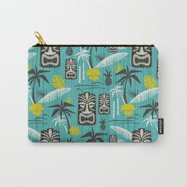 Island Tiki Aqua Carry-All Pouch