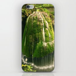 Beautiful unique waterfall in a forest, nature photography, waterfall, Romania iPhone Skin