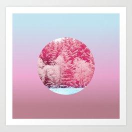 Candy pine trees lens Art Print