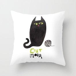 Chat Noir Throw Pillow