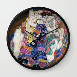 Gustav Klimt Die Jungfrauen The Maiden Wall Clock
