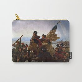 George Washington Crossing Of The Delaware River Painting Carry-All Pouch