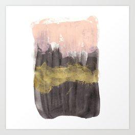 Black / Pink / Gold Art Print