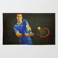 murray Area & Throw Rugs featuring Murray Tennis by BixAri