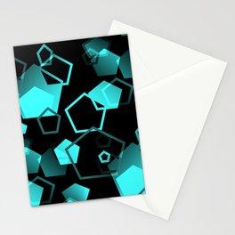 pentagon pattern - seamless Stationery Cards