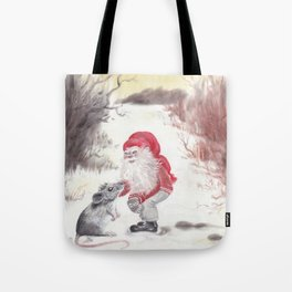 Gnome and mouse Tote Bag