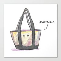 totes Canvas Prints featuring Totes Awesome! by artofjeffp