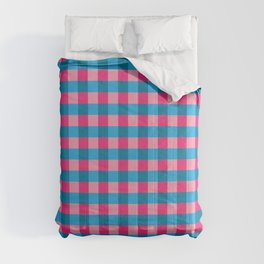 Pink and blue checks pattern Comforters