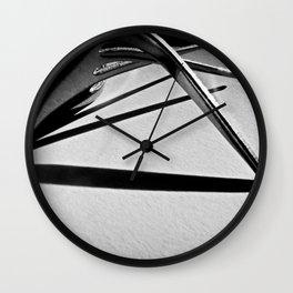 Fork still life Wall Clock