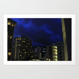 Hawaii night Art Print