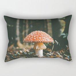 Magical Forest Mushroom Rectangular Pillow