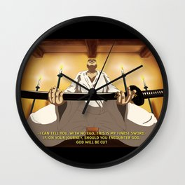 """You like samurai swords, I like baseball"" Wall Clock"