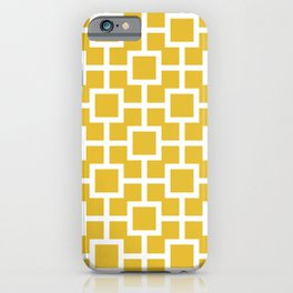 Classic Hollywood Regency Pattern 221 Mustard Yellow iPhone Case