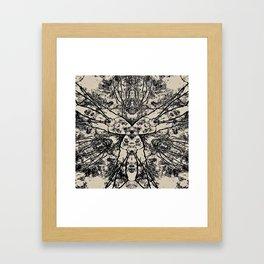 Black Flora No 1 Framed Art Print