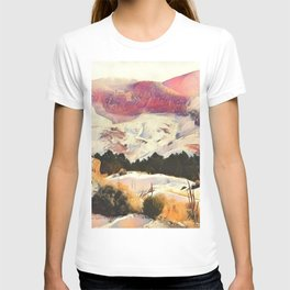 A Winter of Pink Gold Hills by CheyAnne Sexton T-shirt