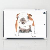 bulldog iPad Cases featuring Bulldog by jo clark