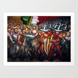 Dictatorship of the Científicos & Porfirio Diaz to the Revolution Portrait by David Alfaro Siqueiros Art Print