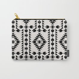 GEO PANEL WHITE Carry-All Pouch