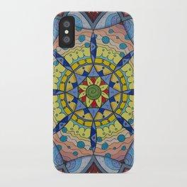Calm Mandala - מנדלה רוגע iPhone Case