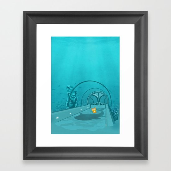 Gluttony - When the eye is bigger than the belly Framed Art Print