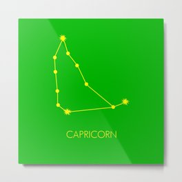 CAPRICORN (YELLOW-GREEN STAR SIGN) Metal Print